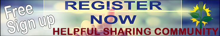 Sign up for Membership to our Helpful Sharing Community