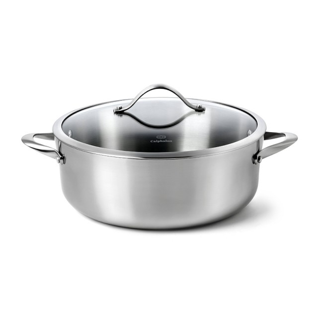 Calphalon Stainless Steel Eight Quart Dutch Oven