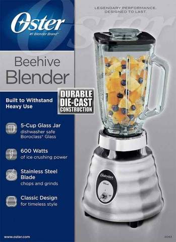Oster 5-Cup Beehive Blender.
