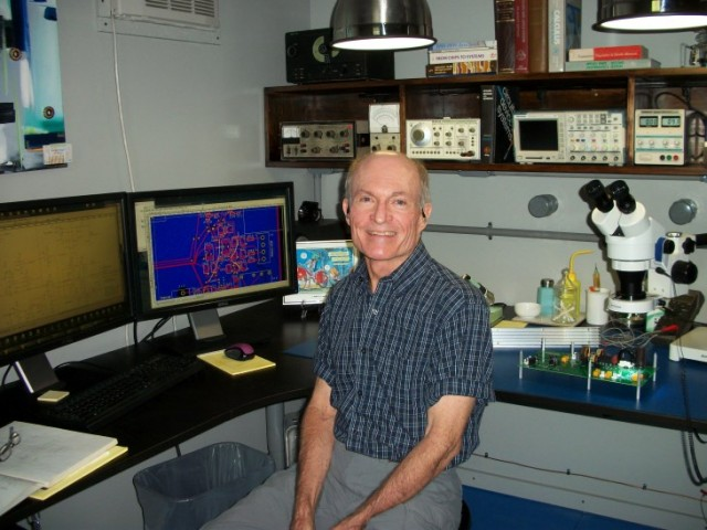 Ken in His Engineering Lab